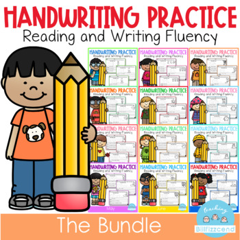 D'Nealian Handwriting Practice All Year (GROWING BUNDLE)