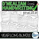 D'Nealian Handwriting Practice Bundle