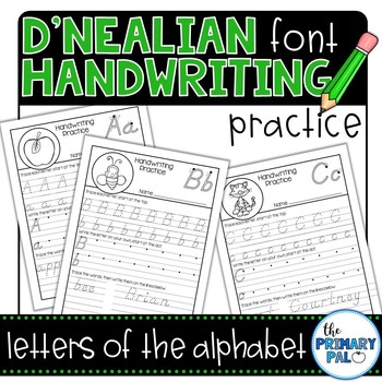 d 39 nealian alphabet handwriting practice by the primary pal tpt. Black Bedroom Furniture Sets. Home Design Ideas