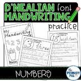 D'Nealian Handwriting Practice: Numbers
