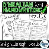 D'Nealian Handwriting Practice: Third Grade Sight Words