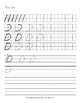 D'Nealian Handwriting Practice: Writing Letters