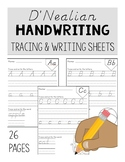 D'Nealian Handwriting Tracing & Writing Sheets