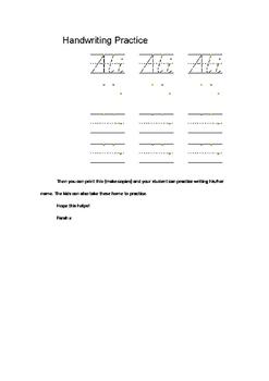 D'Nealian Handwriting Worksheets