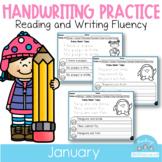 D'Nealian January Handwriting Practice