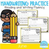 D'Nealian June Handwriting Practice