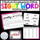 D'Nealian Kindergarten Dolch Sight Words Pack