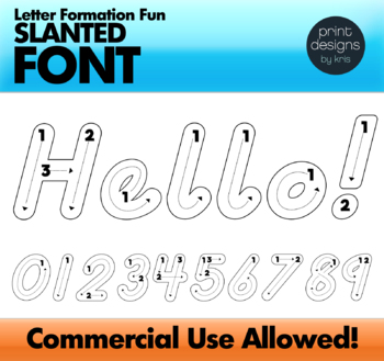 D'Nealian Letter Formation Font • Letter Tracing Font • Writing Letters Font