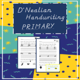 D'Nealian Letter Formation Worksheets... with student refe
