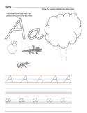 D'Nealian Letter Trace Practice Page - Aa