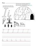 D'Nealian Letter Trace Practice Page - Ii