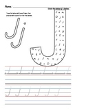 D'Nealian Letter Trace Practice Page - Jj