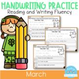 D'Nealian March Handwriting Practice