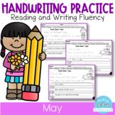 D'Nealian May Handwriting Practice