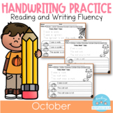 D'Nealian October Handwriting Practice