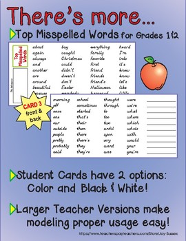 D'Nealian Pencil Box Reference Cards with Wonders High Frequency Words