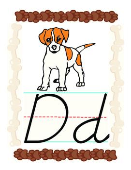 D'Nealian Phonics Alphabet Display