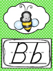 D'Nealian Polka Dots Alphabet Posters. Preschool-2nd Grade