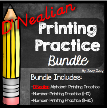D'Nealian Printing Practice