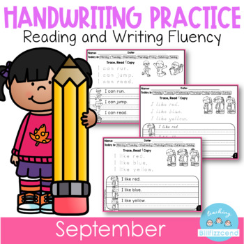 D'Nealian September Handwriting Practice