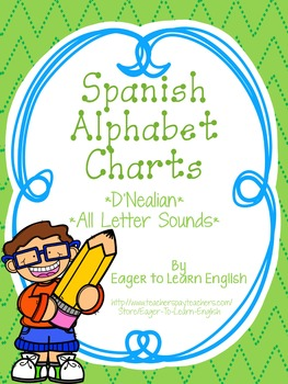 D'Nealian Spanish Alphabet Charts {All Letter Sounds!}