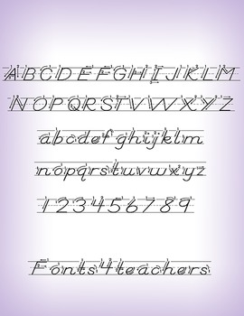 D´Nealian-Style family font (6 fonts)