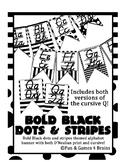 D'Nealian print and cursive Alphabet banner Black&Bold