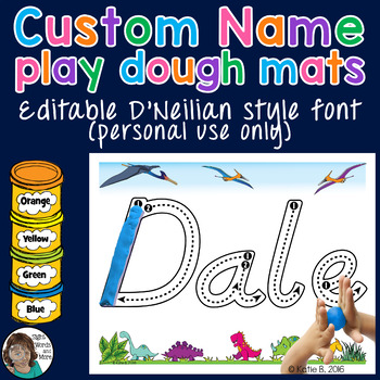 D'Neilian Playdough Mats Name Activity - EDITABLE