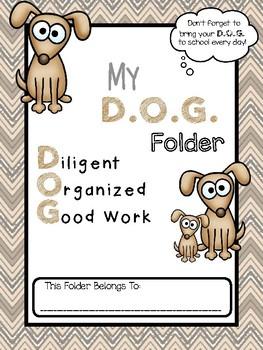 D.O.G. Folder Binder Cover