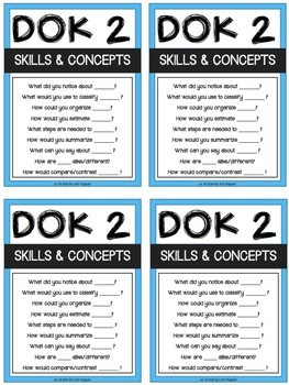 D.O.K. Depth of Knowledge Question Stems