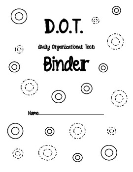 D. O. T. Binder Cover