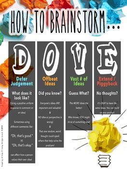 D.O.V.E. Brainstorming Poster