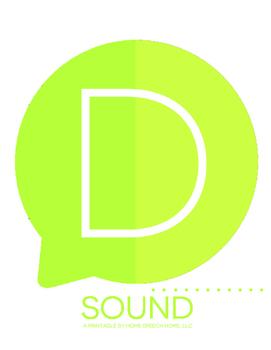 D Sound Printable Flashcards