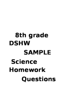 8th Grade Science Homework Sample
