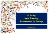 D String Note Reading Assessment