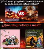 Día de los Muertos vs. Día de las brujas | PearDeck Interactive Activities y más