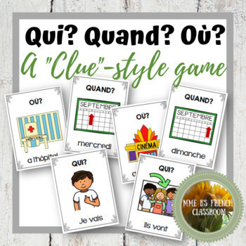 """D'accord 1 Unité 4 (4A): Clue-style game with verb """"aller"""""""