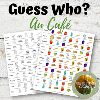 D'accord 1 4A: Guess Who?  A partner speaking game with food vocabulary