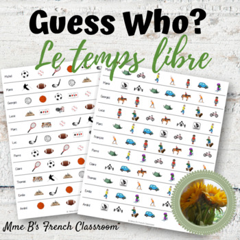 D'accord 1 Unité 5 (5A): Guess Who?  A speaking game with  unit vocabulary