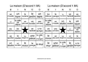 D'accord 1 Unité 8 (8A): Bingo: la maison