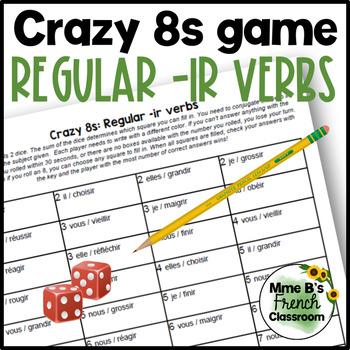 D'accord 1 Unité 4 (4B): Crazy 8s Game: IR regular verb conjugations