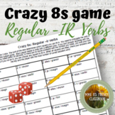 D'accord 1 Unité 4 (4B): Crazy 8s Game: IR regular verb conjugations