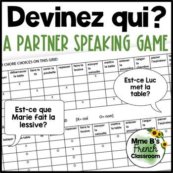 D'accord 1 Unité 8 (8B): Devinez qui?  A partner speaking activity
