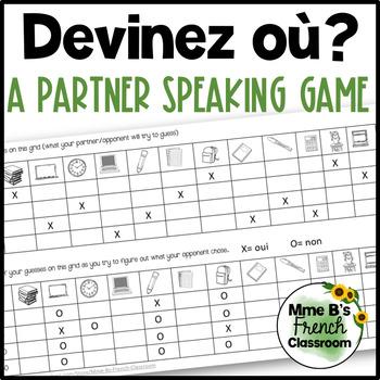 D'accord 1 Unité 1 (1B): Devinez qui?  A partner speaking activity