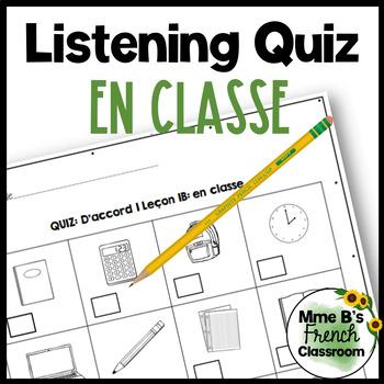 D'accord 1 Unité 1 (1B): En classe vocabulary listening quiz