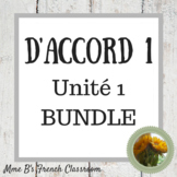 D'accord 1 Unité 1 Bundle