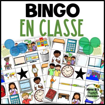 """D'accord 1 Unité 1 (1B): """"En classe"""" Bingo"""