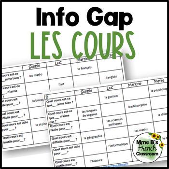 D'accord 1 Unité 2 (2A): Les cours Info Gap