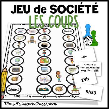 D'accord 1 Unité 2 (2A): Les cours board game
