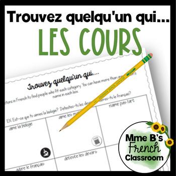 D'accord 1 Unité 2 (2A): Trouvez quelqu'un qui with school subject vocabulary